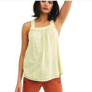 Free People Lime Green Good for You Tank Top NWT